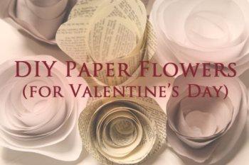 Цветы из газетной бумаги