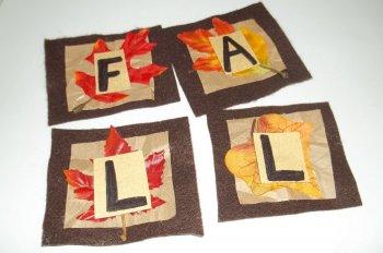 Аппликация из осенних листьев «Послание»