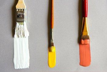 Способы очистки кистей от краски