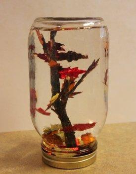 Осенний стеклянный шар своими руками