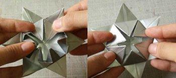Снежинка оригами своими руками