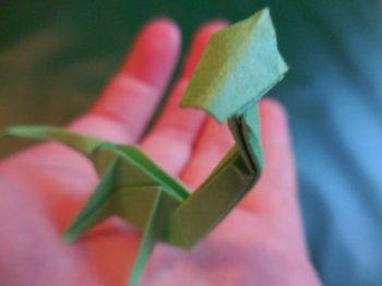 Бронтозавр в технике оригами