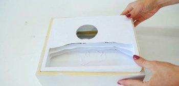 3D картина из бумаги со светодиодной подсветкой