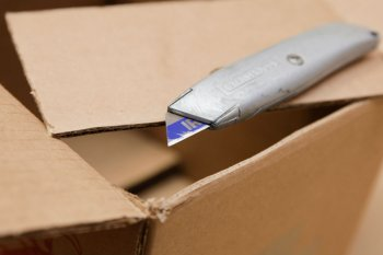 Стильная коробка для хранения из шпагата
