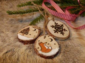 Елочные украшения из дерева своими руками
